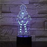 YOUPING Lámpara de noche LED 3D Sailor Moon 3D con luz de noche para Halloween,...