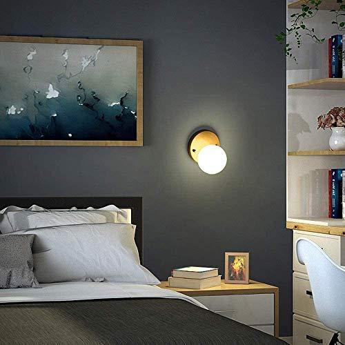 Eenvoudige installatie, messing, modern, klein, plafondlamp, melkglas, wit, bol, persoonlijkheid, voor slaapkamer, balkon, veranda, nacht, aisel, restaurant, badkamer, beginners, wandlamp.