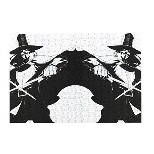anillos Guy Fawkes ma-sken alan moore región libre V para Ven-detta popular Jigsaws rompecabezas familia entretenimiento para adultos niños accesorios