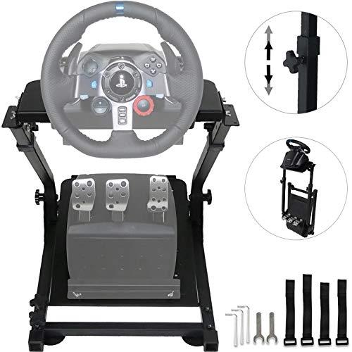 VEVOR Staffa Volante per Simulatore Racing per Logitech G25 G27 G29 e G920 La Staffa del Volante Pieghevole non Include il Volante o i Pedali del Volante (G29)