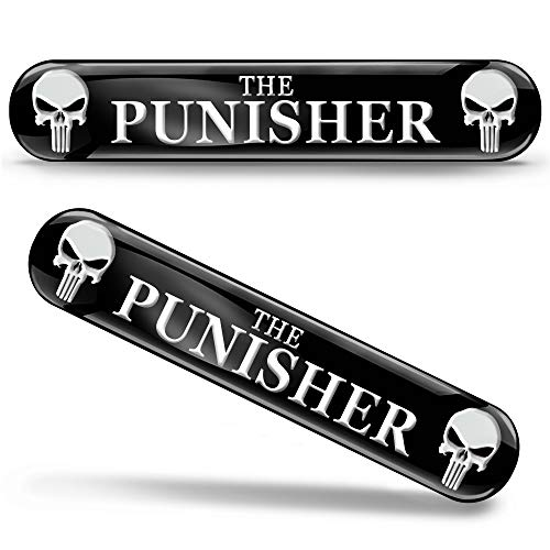 Skino 2 x 3D Gel Silicone Sticker Punisher Emblem Badge Logo Decal Tuning Auto Moto CaR KS 109