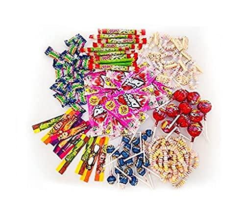 Chupa Chups Mélange de bonbons - Chupa Chups-Mentos 100 pièces avec sucettes- chewing-gum-bonbons à mâcher et articles spéciaux, idéal pour les fêtes 1.00 kg