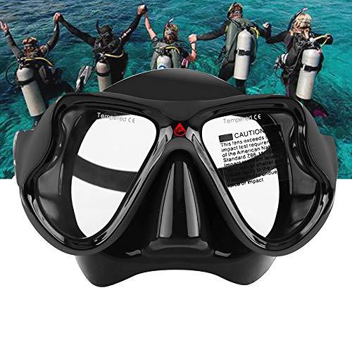 LJXWXN Gafas de natación para Adultos, Gafas de natación sin Fugas, protección UV antivaho, Gafas de natación de visión Amplia con Pinzas nasales, Tapones para los oídos para Hombres,Negro