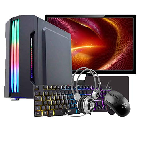 "PC Gamer Completo Intel Core i7 4ª Geração, 8GB RAM DDR3, HD SSD 240GB, GTX 550TI 1GB, Gabinete com LED, Monitor 18,5"", WiFi, Headset, Teclado e Mouse"