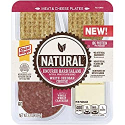 Oscar Mayer Natural Uncured Hard Salami & White Cheddar Meat & Cheese Plate (3.3 oz Tray)