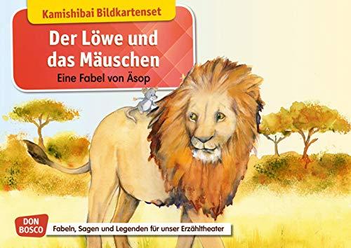 Der Löwe und das Mäuschen. Eine Fabel von Äsop. Kamishibai Bildkartenset. Entdecken – Erzählen – Begreifen: Fabeln, Sagen und Legenden (Fabeln, Sagen und Legenden für unser Erzähltheater)