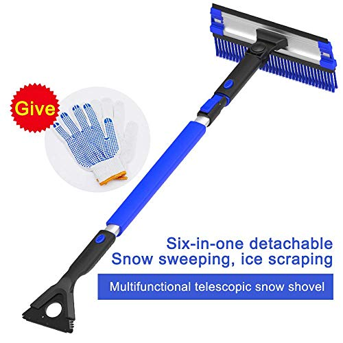 DFYOU Promotional Ice Scraper 6 inch Widely Larger for Car Windshield Fixed Head Plastic for Homemade Windows for Cars Trucks Heavy-Duty Frost and Snow Removal by Hand Blue
