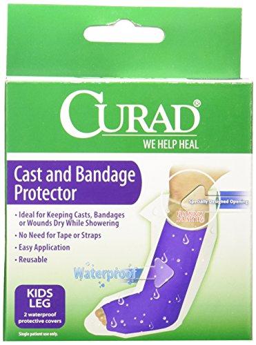 Medline CUR100KLL Curad Cast Protectors Kids Leg, Waterproof (Pack of 6)