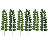 BESTOYARD 6 Pcs Realistic Green Leaves Plastic Safe Plants Green Vivid Plant Decorations for Home Garden Cafe Shop Office Wedding (Light Green Dark Green)