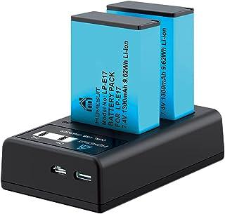 Homesuit LP-E17 LP E17 バッテリー 互換 2個 +LCD LP-E17 充電器 キット 対応機種Canon EOS RP EOS Kiss X9i X9 X8i Canon EOS 9000D 8000D 800D 760...