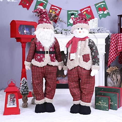 AaAlma Weihnachtsdekorationen können versenkbar Sein 1 Meter 2 Santa Claus Schneemann Figuren Bar und Einkaufszentrum Fensterdekoration Zubehör für ältere Menschen