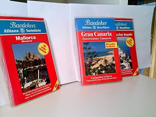 Konvolut von Baedeker Reiseführer: Mallorca, Menorca 1987 - Gran Canaria 1994 - Griechische Inseln 1987.