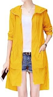 MogogoWomen Oversized Sunscreen Slim Hooded Light Weight Outwear Jacket Coat