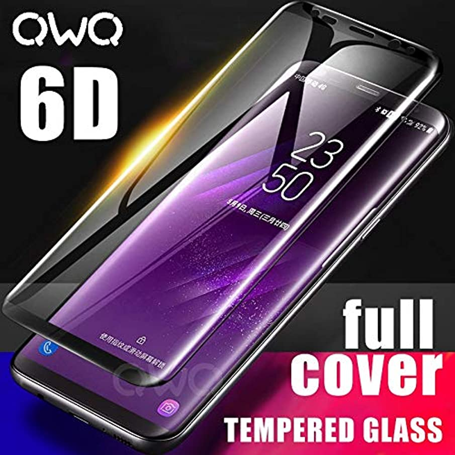 6D Full Curved Tempered Glass for Samsung Galaxy S9 S8 Plus Note 8 9 5D Screen Protector for Samsung A6 A8 2018 Protective Film (for Samsung Note 9 - Black)