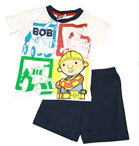 Bob der Baumeister /Bob the Builder Shorty Set Pyjama - weiß/schwarz - 116