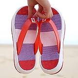 ypyrhh Sandalias de Punta Descubierta,Deslizando Zapatillas Planas,hitos de la Playa-Rojo_37,Zapatillas de Estar por Casa de Mujer/Hombre