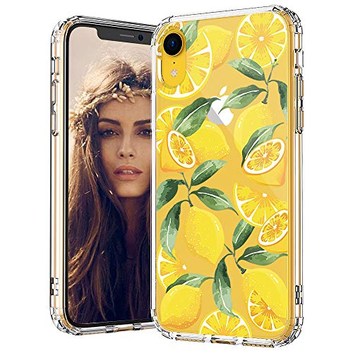MOSNOVO Lemon Pattern Designed for iPhone XR Case,Clear Case with Design,TPU Bumper with Protective Hard Case Cover