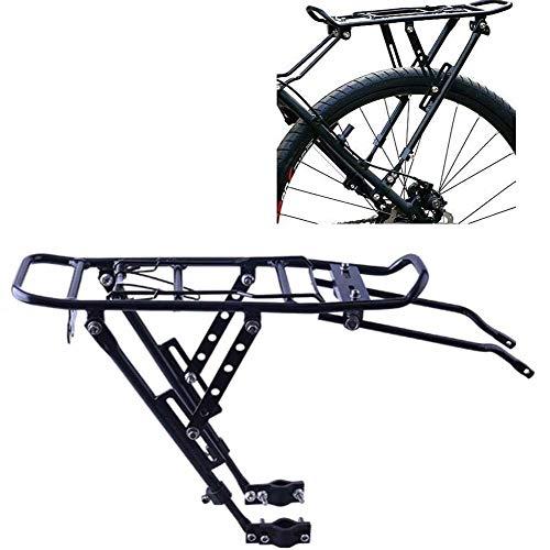 JXS-outdoor Fahrrad-Gepäckträger - Aluminium-Fahrrad-Gepäckträger - mit Rücklicht Stand - 25 kg Kapazität Einstellbare Fahrradgepäckdachgepäckträger
