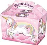 Diamante Crafts 10 cajas de fiesta – Caracteres temáticos Cartón almuerzo comida botín caja – 16 diseños (10 cajas de unicornio)