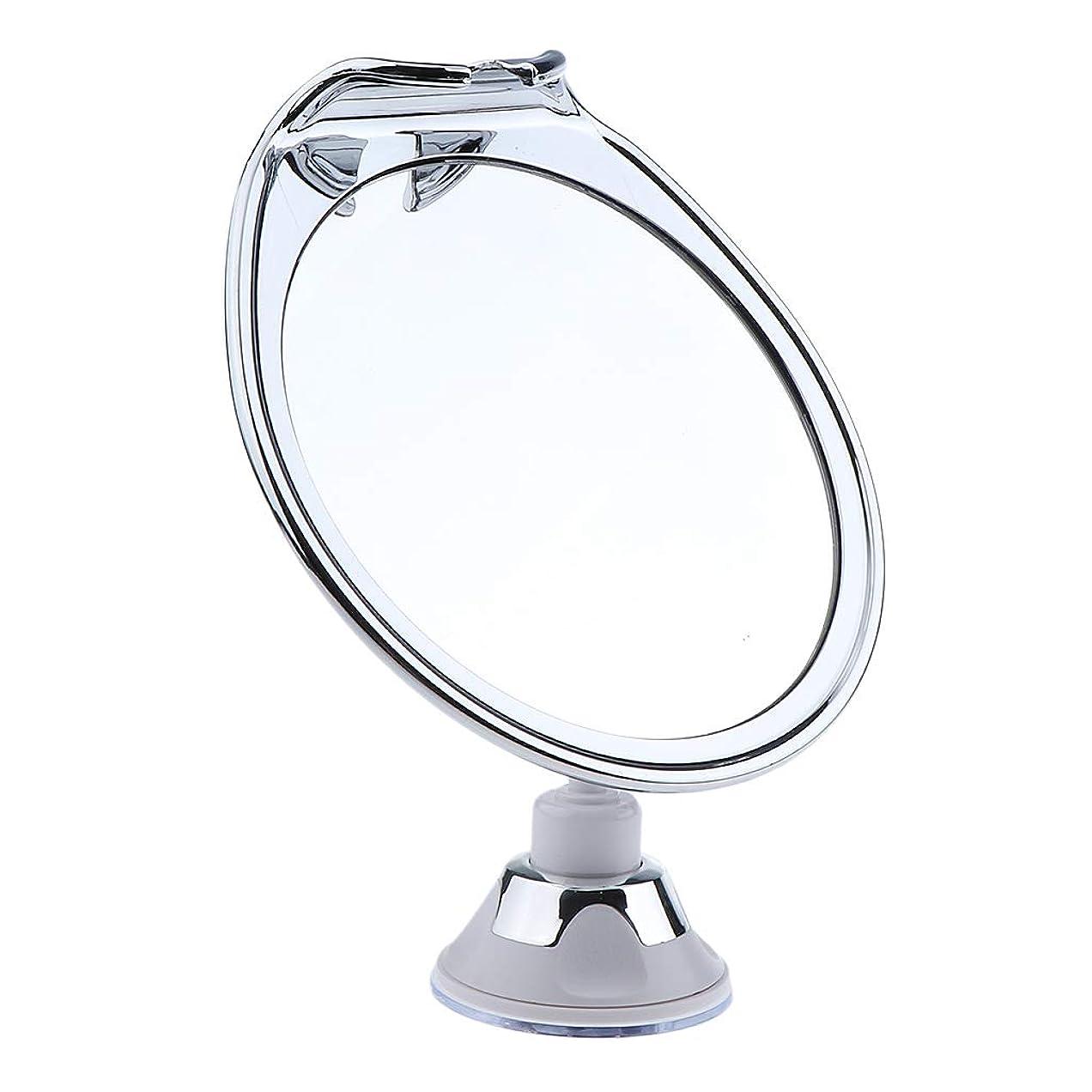 ホールドオール幸福ページP Prettyia メイクアップミラー フォグレス 曇らない ミラー 吸引カップ 浴室鏡