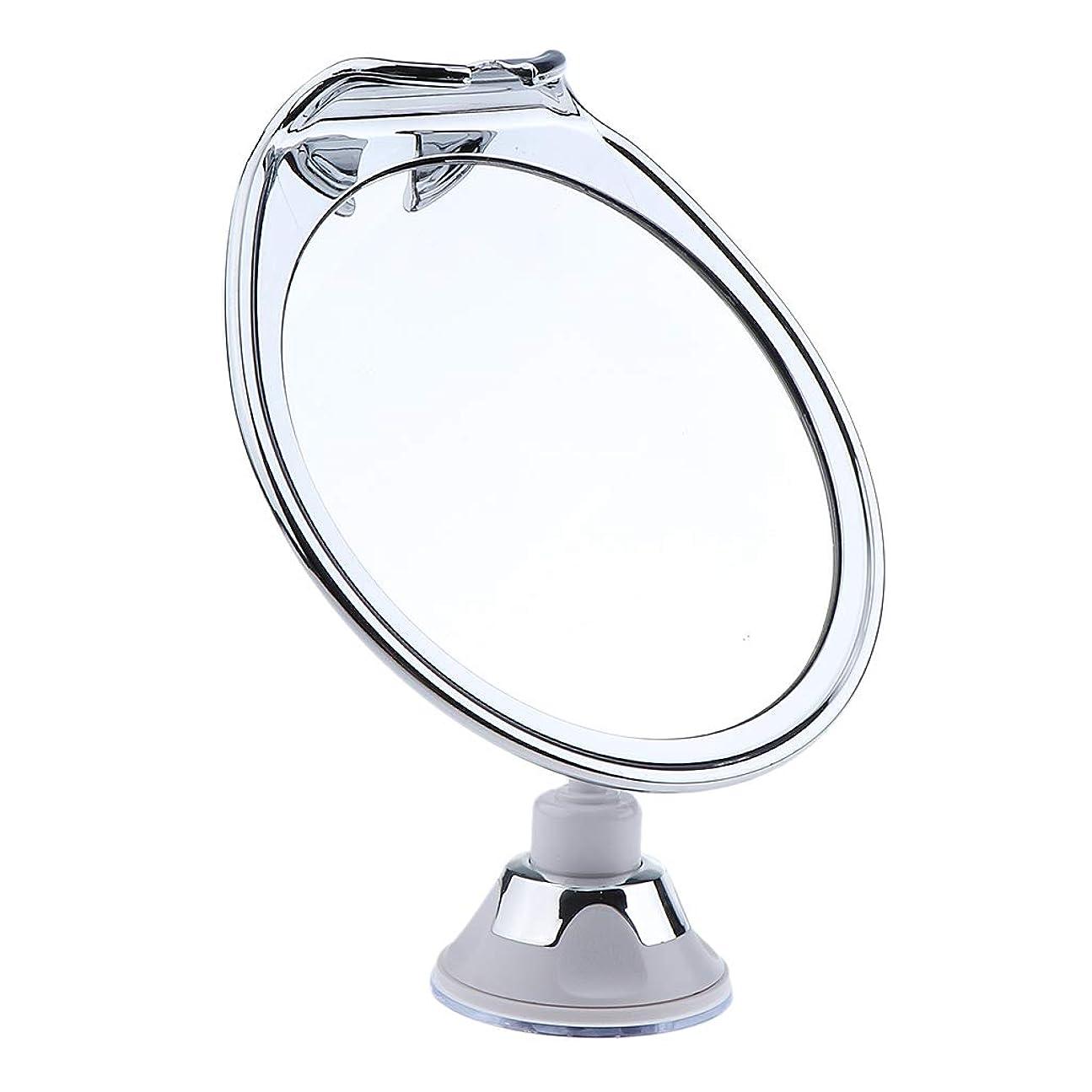 失われたホステルに頼るP Prettyia メイクアップミラー フォグレス 曇らない ミラー 吸引カップ 浴室鏡