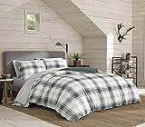 Eddie Bauer Home | Winter Ridge Collection | 100% Cotton Soft & Cozy Premium Quality Plaid Duvet Cover Matching Sham, 2-Piece Bedding Set, Machine Washable, Twin, Green