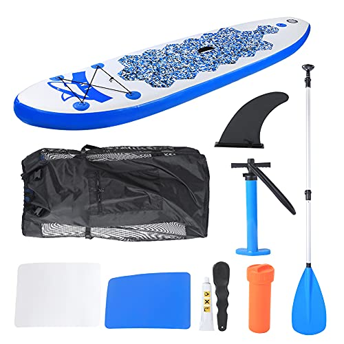 Gaeirt Stand Up Paddle Board Inflable, Stand Up Paddle Board de Doble Capa con Accesorios y Mochila Sup, Parches, Bomba Manual, Tabla de Surf para Surfear