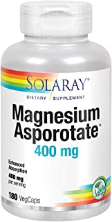 Solaray Magnesium Asporotate 400 mg | Aspartate, Orotate & Citrate Complex | Healthy Heart, Muscle, Nerve & Circulatory Function Support | 180 VegCaps