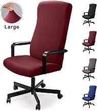 Housse de Chaise dordinateur,Couverture de Chaise de Bureau dordinateur,Housse de Fauteuil pivotant Lavable imperm/éable Extensible Protecteur de Chaise