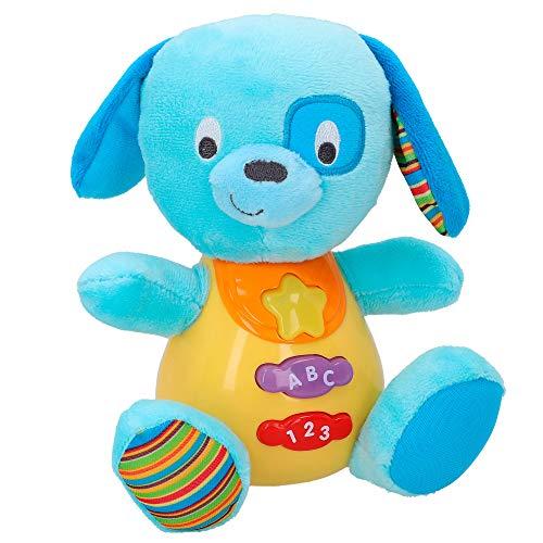 winfun - Peluche Perro para bebés que habla y luces de colo