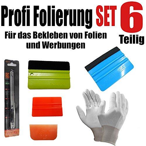qili 6 Teilige Profi Folierung für Beklebung von Folien und Werbungen - Rakel Set