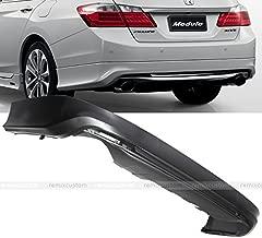 Remix Custom for 2013 2014 2015 Honda Accord 4DR Sedan Modulo Style PP Rear Body Bumper Lip Kit Spoiler