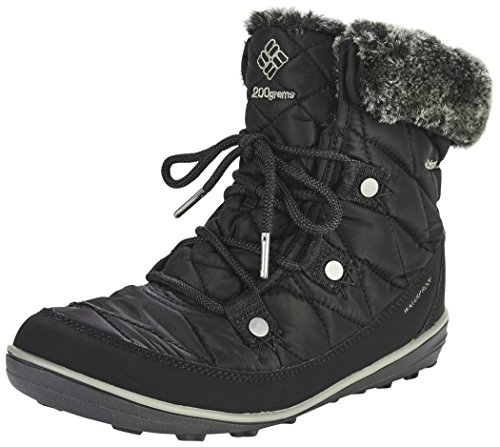 Columbia Women's Heavenly Shorty Omni-Heat Snow Boot, Black, Kettle, 7.5 Regular US