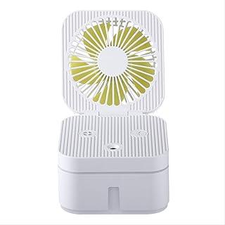 HJY - Humidificador de cubo de Rubik multifunción para escritorio de oficina con humidificador USB mini ventilador plegable, gran capacidad, Blanco, Small