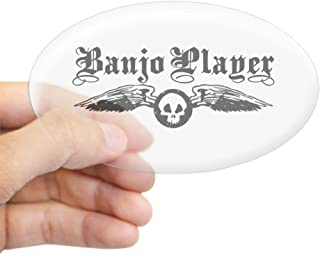 CafePress Banjo Player Oval Sticker Oval Bumper Sticker, Euro Oval Car Decal