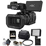 Panasonic HC-X1000 4K DCI/Ultra HD/Full HD Camcorder with 16GB Memory Card, LED Light, Case and More. - Starter Bundle