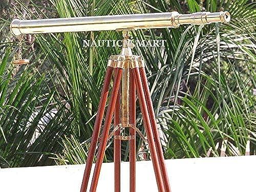 conveniente HOUSE HOUSE HOUSE OF ANTIQUE Casa de trípode Antiguo de pie de latón Harbor Master telescopio – 64 Pulgadas  tomamos a los clientes como nuestro dios
