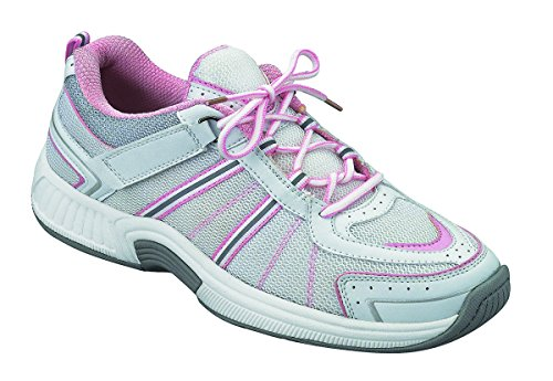 Orthofeet Proven Heel and Foot Pain Relief, Orthopedic Sneakers. Extended Widths. Arch Support Diabetic Women's Athletic Shoes Tahoe White/Pink