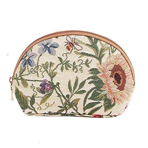Signare Tapestry Trousse de maquillage pour femme Motif fleur de jardin