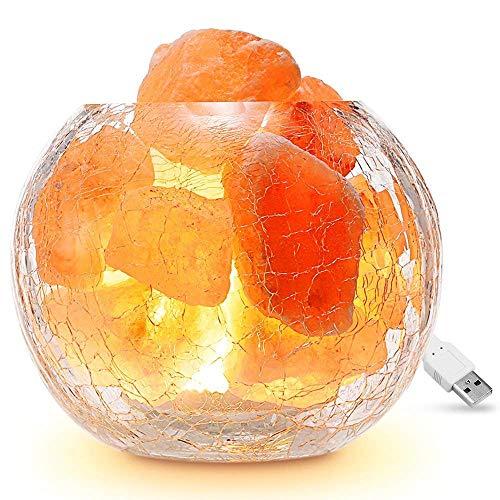 2 pack Natural Crystal Light Decor Gift Himalayan Glow 17001B Salt Rock Lamp