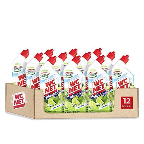 Wc Net Profumoso Gel, Prevenzione Calcare e Igienizzante per WC, Essenza Lime Fresh, 700 ml x 12 confezioni