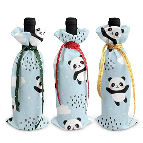 Cloud Printed Wine Bottle Cover Decoration Cover Bags, for Christmas Wine Tasting Party Supplies