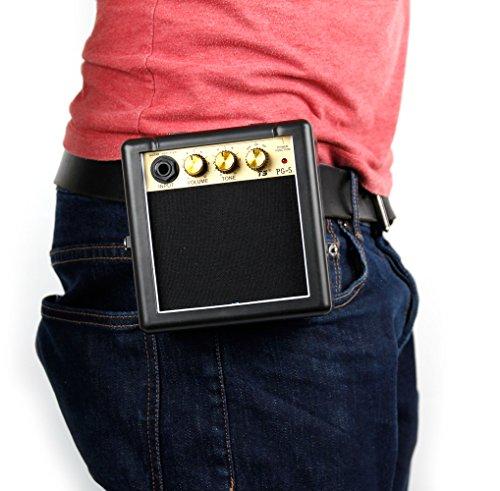 compacto amplificador de guitarra/amplificador con clip de la correa En Negro -...
