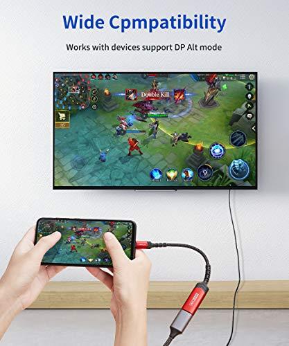 JSAUX USB C HDMI Adapter 4K @ 60Hz, Thunderbolt 3 HDMI Type C HDMI Kompatibel für iPad PRO 2018, MacBook PRO, MacBook Air,Samsung Galaxy S20/S10/S9/S8, Huawei P20/P30-Rot
