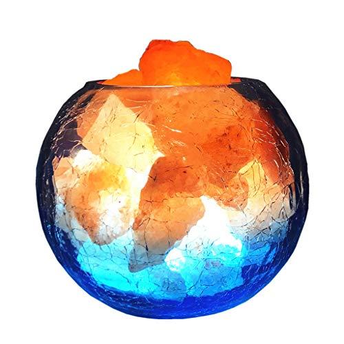 Luminaires & Eclairage/Luminaires intérieur/EC Lampe de sel Ronde en Cristal Lampe himalayenne LED Naturelle Night Light Lampe de Chambre créative Lampe sculptée à la Main de Cristal de Roche de c