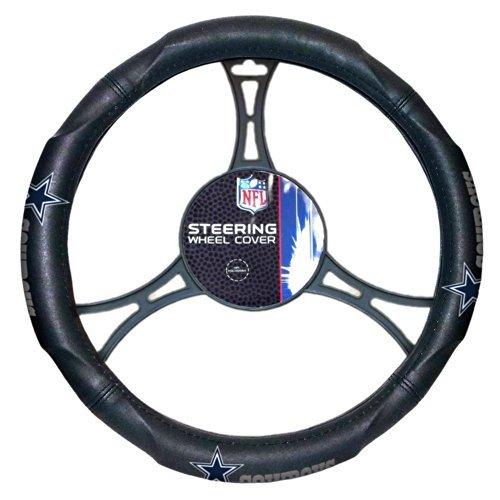Northwest 605 Car NFL Dallas Cowboys Steering Wheel Cover, Black, One Size