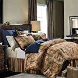 HiEnd Accents Tammy Western Bedding Comforter Set, Twin, Tan & Multi-Color Paisley 2 PC