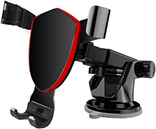 Car Phone Mount, Suction Cup Cell Phone Holder with Telescopic Adjustable Arm for Car Mount Windshield/Dash, Compatible wi...