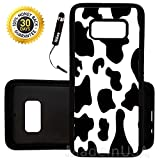 Custom Galaxy S8 Plus Case (Cow Print) Edge-to-Edge Rubber Black Cover Ultra Slim | Lightweight | Includes Stylus Pen by Innosub
