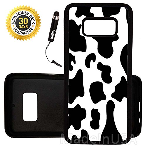 Custom Galaxy S8 Case (Cow Print) Edge-to-Edge Rubber Black Cover Ultra Slim | Lightweight | by Innosub